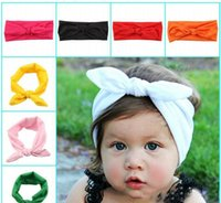 Wholesale Babies Knitted Headwraps - 2015 Hot 50pcs Little Girls Head wraps Baby Headband Jersey Knit Headwraps Infant cotton Headbands