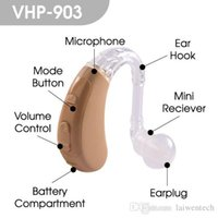 Wholesale Digital Ear Hearing Aids - Free shipping Best quality BTE digital hearing aid ear hearing device VHP-903