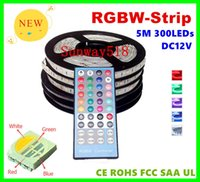 Wholesale Hotel Advertisements - 2015 Newest led strips rgbw 4 in 1 chip rgbw led strip light 12VDC 24VDC widely used for hotel ,wedding , party decor