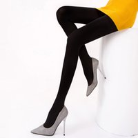 Wholesale Hosiery Pants - 12pcs lot Ladies Breathable Thicken Render Pants Hosiery Thicken Velvet Stockings Leggings Winter Outdoor Pantyhoses NS122