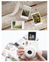 instax kamerafilm großhandel-Weiße Filme für Mini 90 8 25 7S 50s Polaroid-Sofortbildkamera Fuji Instax Mini Film White Edge-Kameras Papiere Zubehör 10 teile / satz