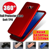 Wholesale Red Transparent Film - For Samsung Galaxy NOTE8 S8 S8PLUS S7 S7EDGE 360 Degree Full Protection Soft TPU Phone Case Full Cover with tpu screen protector film