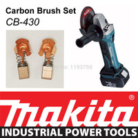 Wholesale Makita Grinders - Free Shipping 1 Pair Original Makita Carbon Brushes for Electric Motors CB430 191971-3 Angle Grinder BGA452 BGA452Z 7*7.35*12mm