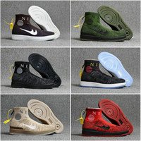 Wholesale Zipper Socks - Hot Selling Drop Shipping Famous Air Lunar Mid Zipper Sock Winter Mens Running Shoes Trainers Sneakers Size 40-46