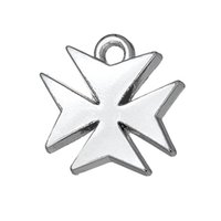 Wholesale Maltese For Sale - Free shipping New Fashion Easy to diy 20pcs hot sales maltese cross religious charms jewelry making fit for necklace or bracelet