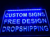 Wholesale 12v Led Signs - 0-b design your own Custom LED Neon Light Sign Bar open Dropshipping decor shop crafts