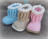 Wholesale Knitted Shoes For Toddlers - 2015 Hot Winter baby shoes! Crochet Handmade toddler shoes--blue pink brown,knitted cheap shoes for 3 size-9-11cm 0-12M cotton