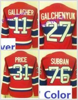 64eb3aa36 Ice Hockey Women Full Ladies Montreal Canadiens 31 Carey Price 76 PK Subban  11 Brendan Gallagher