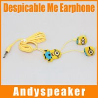 Wholesale Despicable Note - Despicable Me Earphone 105cm In-ear Earphone Earbuds Stereo Headphone Bass For iphone 6 For Samsung Note 4 With Box 1pcs up