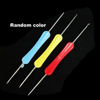 Wholesale 50pcs Crochet Hooks Needles Knit Weave Stitches Knitting Handcraft Tools For Jewelry DIY Making Random Colour DH TZA004
