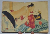 """Wholesale Figure Painting Book - CHINA OLD ALBUM FLODING BOOK""""Couples Story""""FOLK TRADITIONAL PAINTING 21"""