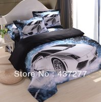 Wholesale-Modern Car Ölgemälde Bedding Bed Set ägyptischer Baumwolle in voller / Königin Bettbezüge Bettwäsche Bettwäsche / Bed Deckblätter Tröster Sets