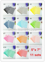 Wholesale dots gift paper bag - 100pcs lot, 11 Sets Assorted Chevron, Polka Dot, Striped, Honeycomb Treat Party Paper Bag for Gifts and Candy