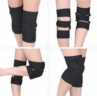 Wholesale Magnetic Belt Knee - Knee Brace Support Tourmaline Magnetic Therapy Knee Orthopedic Thermal Self-heating Knee Pad Belt Brace Protector Adjustable 10 Pairs Lot
