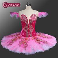 Wholesale Women Sleeping Beauty Costume - Princess Aurora Professional Ballet Tutu Peach Fairy Classical Tutu Ballet Costumes Sleeping Beauty Pink Pancake Tutus SD0042