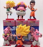 Wholesale Japanese Toys Sale - New hot sale 6pcs set Japanese anime figure PVC doll toy high quality Dragon Ball Goku Gohan Majin Buu High quality doll 10CM