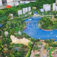 Wholesale Z Scale Wholesale - Wholesale-16pcs HO Z 1:100 & 1:200 Scale Model Trees for Railroad House Park Street Layout Wholesale Green