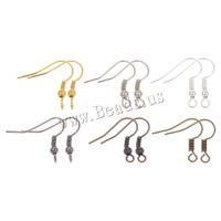 corchetes de anzuelo al por mayor-Fish Dangle Metal Pendientes de hierro cierres ganchos Palanca de Atrás Accesorios de los pendientes DIY para regalos de mujer Accesorios de la joyería Accesorios