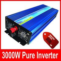 inversor de la red de energía solar al por mayor-3000W 6000W pico CC 12V a CA 220/230 / 240V fuera de la red Inversor solar de onda sinusoidal pura Inversor solar de 3000 vatios Pantalla digital