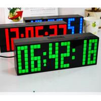 Hot selling NEW LED Clock Display Jumbo Large Digital Wall Alarm Countdown World Clock Blue LED Blue Clocks Timer