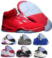 Wholesale Brand Sports Shoes China - Sale Retro 5 Basketball Shoes Sneakers Men Women Red Air Retros 5s V Replicas China Brand Man Women Tennis Zapatillas Deportivas Sport Shoe