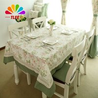 Wholesale Waterproof Cotton Tablecloth - TLFE Home Textile Pastoral Lace Embroidered Tablecloth for Wedding Table Cloth Rectangular toalhas de mesa (no Chair Cover)ZB024