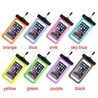 Caso PVC telefone Neck Pouch Underwater saco impermeável IPX8 Swim Diving Capas Para iphone 4 6 5S Galaxy S6 Nota 4 DHL SCA052