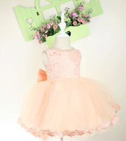 Wholesale Infant Dresses Flower Tops - Baby Pageant Dress with Full Lace Top, Infant Tutu, Toddler Dress for Wedding,Flower Girl Dress Lace,
