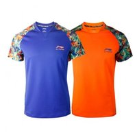 Wholesale Mens Tennis Clothing - Wholesale-2016 Newest LI-Ning Lining Leisure Badminton Mens and Women Shirts Sports Clothes Table Tennis Li Ning shirts L296