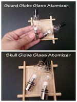 Wholesale m6 bulb atomizer for sale - Group buy Skull and Gourd glass globe atomizer double deck pyrex tank wax dry herb vaporizer vapor m6 bulb dome glassomizer coils vape pen