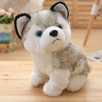 Husky Plush Toy 8.97 pulgadas Stuffed Puppy Doll Soft Dog Husky Standing Suave Animal Toy Niños Buddy Boys Girls Companion Home Decor HANCHENTE