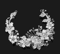 Vintage Wedding Bridal Flower Crown Tiara Crystal Rhinestone Headband Headpiece Hair Accessories Clips Ювелирная вечеринка Prom Headdress Silver