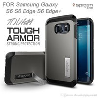 Wholesale Bumper Iphone Original - Original SPG TPU PC Bumper Hybrid Shockproof Holder TOUGH ARMOR Cover Case For iPhone 6 6S Plus Galaxy S7 S6 Edge Note 4 5 LG G4