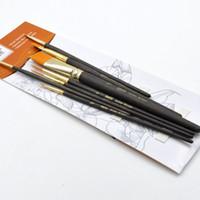 Wholesale Design Hair Pen - Wholesale-2015 new design BEST SALE New 7 pcs different shape nylon hair paint brush Oil Paint Brushes Pen BB030
