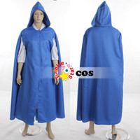 Wholesale Belle Beauty Beast Costumes Adults - Wholesale-Halloween costumes for women adult Princess village Belle Beauty and the Beast cosplay costumes(shirt+blue dress+cloak+apron+bow