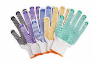 Wholesale Purple Rubber Gloves - Factory direct sales Bleaching rubber labor insurance gloves antiskid dotted PVC Working gloves Can be printed LOGO