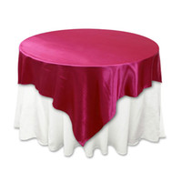Wholesale Red Satin Overlay - Table Sashes Masquerade Party Supplies Table Cloth Satin Noble Tablecloth Overlay Square Top Banquet Tablecloth Illusion Wedding Party Hotel
