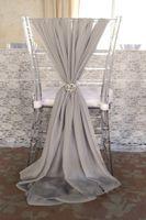 обложки для образцов оптовых-Популярные мода свадьба стул створки выбрать цвет шифон 1.5 м длина салфетка образец завод партии банкетный стул охватывает свадьба