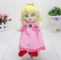 Wholesale Anime Dolls For Sale - 2016 Hot Sales Brand 8inch 20cm sit Peach Princess Super Mario Plush toy Doll for girls