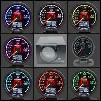 manometer steigern großhandel-62mm 7 Farbe in 1 Racing Gauge GReddy Multi D / A LCD Digitalanzeige Turbo Boost Gauge Auto Gauge 2,5 Zoll