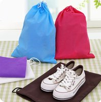 Wholesale Stock Brand Shoes - Travel moisture Drawstring Pouch finishing non-woven shoe bag dust bag Brand New Good Quality Hot Free Shipping