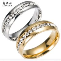 Wholesale spinner steel resale online - 10pcs Fashion Men s Ring Punk Rock Accessories Rhinestone Stainless Steel Spinner Rings For Men Color USA Size RIG151