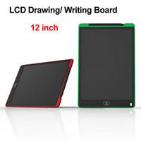 ingrosso vernice lcd-Tavoletta LCD da scrittura digitale portatile da 12 pollici Disegno Tavolo da disegno Pastiglie per scrittura grafica Tablet elettronico per adulti Bambini Bambini