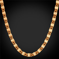 Wholesale gold snail resale online - U7 Jewelry Snail Necklace Gold Platinum Black Rose Gold Plated Chain MM CM Fashion Chains Set Men s Necklaces Perfect Gifts NH2516
