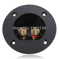 Wholesale Brand New Home Car Stereo Speaker Box Terminal Round Spring Cup Connector Subwoofer Plug order lt no track