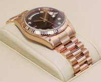 Luxe MONTRES Chocolat diamant Ruby Dial Everose Or 118235 CHODRP Man Wristwatch