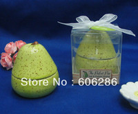 Wholesale Perfect Party Favors - Wedding and Event party favors The Perfect Pair Ceramic pear Salt & Pepper Shaker for wedding giveaways gifts 150sets wholesale