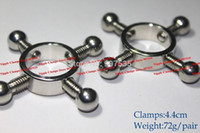 Wholesale Funny Sex Gifts - 2015 Arrival steel nipple clamps clip funny gifts  sex products for women nipples  breast screw sexy toys SL1598