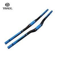 Wholesale Carbon Mountain Bars - TMAEX-Pro Blue UD Carbon Handlebar Mountain Bike Handlebar Flat Riser Bar Carbon Bicycle Parts spare parts for bicycle
