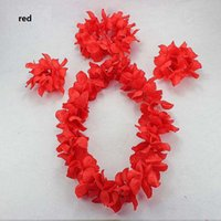 Hawaiian Blume Lei Stirnband Fußkettchen Hula Kranz Blume Stirnband Kranz Birthday Party Supplies Neujahr Dekoration